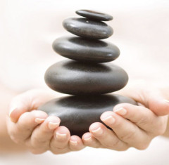pebble balance hands