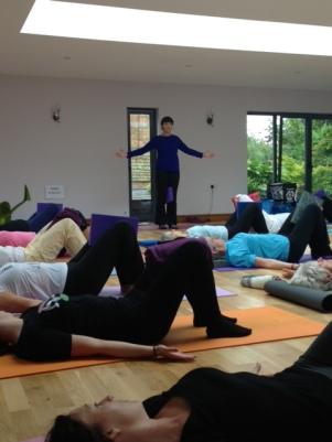 Wellbeing Day 2014 - Teaching Unwind Spine Class