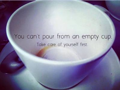 self care empty cup