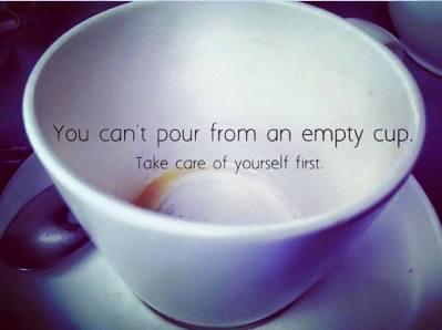 self care empty cup